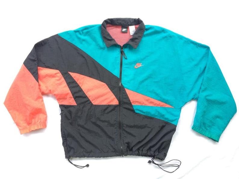 7224890a6fe6a RARE!!Vintage 90's NIKE color block jacket Adidas Tommy Hilfiger karl kani  guess tennis Kappa filla