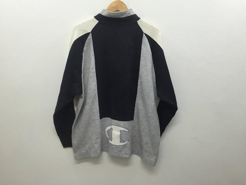 7172d4cd66c1e Vintage CHAMPION Big logo color block size large Sweatshirt Polo Bear  Supreme Adidas Nike Nautica Tommy Hilfiger karl kani Fila Fred Perry