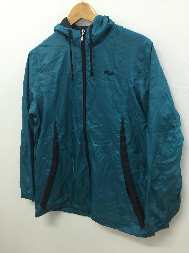 d43f6215fe6b3 Vintage Fila light windbreaker Jacket Tommy Hilfiger Nike Puma polo bear  nautica karl kani swag gangsta rap adidas