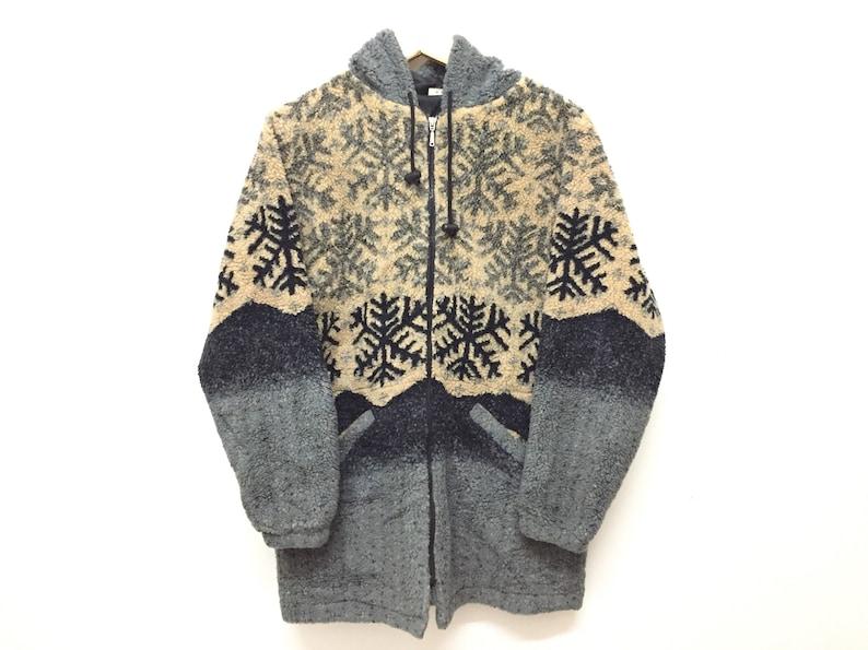 d244baec6942c RARE!!!Vintage 90's ELLESSE Sherpa fleece native 2 tone jacket polo Sport  Tommy Hilfiger Nautica Adidas Hip Hop Gangsta Rap Nike ACG