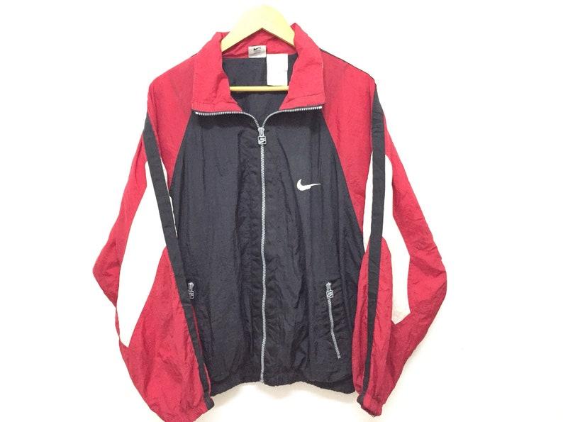 8e256717357f2 Vintage 90's NIKE embroidered logo color block jacket Tommy Hilfiger Puma  nautica karl kani swag gangsta rap hiphop guess adidas supreme