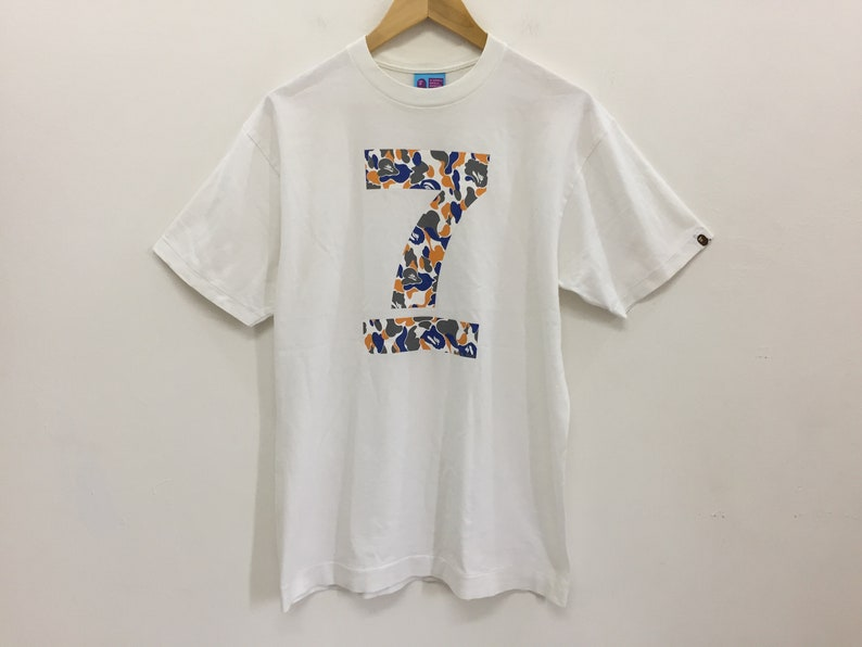4217ef89ce95f Rare!!Vintage Bathing Ape Bape 7th Anniversary Camo tee neighborhood number  nine Issey Miyake Comme des Garcons undercover supreme wtaps