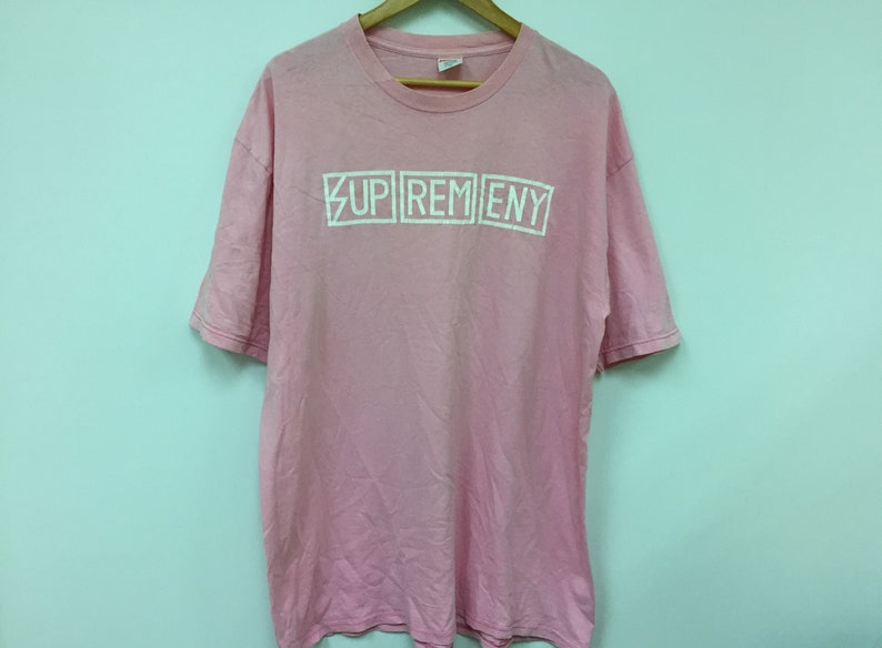 bc9f04c392638 Rare!!Vintage SUPREME Subhumans box logo tee rare pink color Comme des  garcons visvim issey miyake Number nine Good Enough undercover