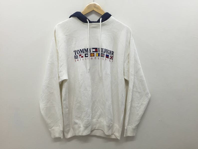 268bf5a77e3f1 Vintage 90's Tommy Hilfiger Sailing Gear Embroidered logo Size Medium Polo  Bear Supreme Hip hop Karl kani wutang Gangsta Rap Nautica
