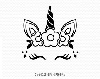 unicorn svg, unicorn eyelashes, unicorn birthday svg, Magical unicorn svg, unicorn face svg, Cricut, Silhouette Cut File, SVG DXF EPS
