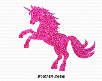 Unicorn Svg, Unicorn Monogram svg, unicorn horn svg,unicorn birthday glitter silhouette svg, Cricut, Silhouette Cut File, SVG DXF JPG