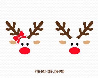 reindeer svg etsy