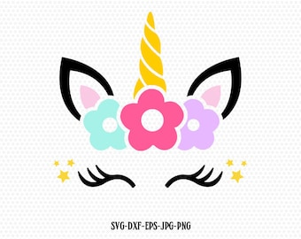 unicorn svg, unicorn eyelashes, unicorn birthday svg, Magical unicorn svg,, unicorn face svg, Cricut, Silhouette Cut File, SVG DXF EPS