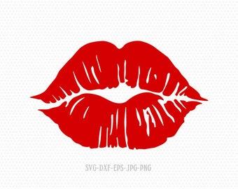 Lips Svg Etsy