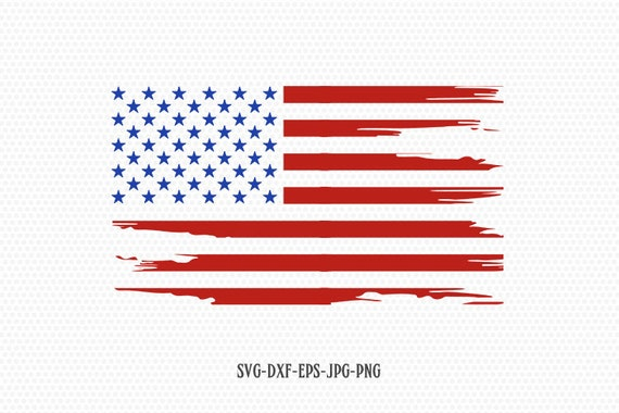 American Flag Distressed Usa Flag Svg Fourth Of July Svg Etsy