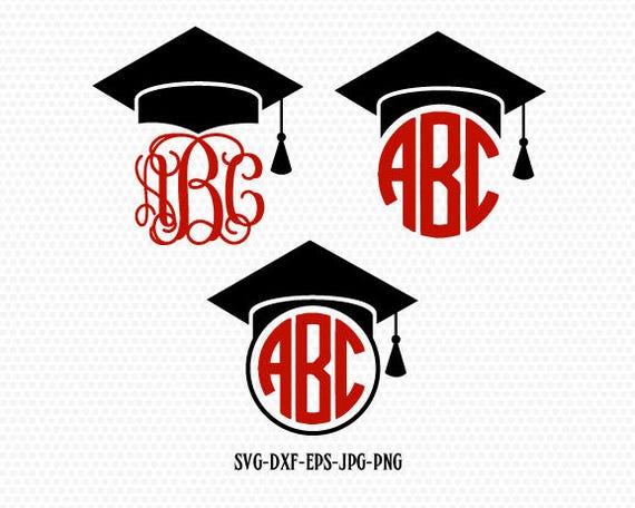 Graduation Svg Graduation Cap Svg Graduation Caps Monogram Etsy