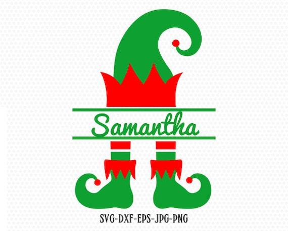 Elf Split Monogram Svg Elf Svg Christmas Svg Christmas Elf Etsy