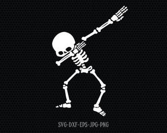 Dabbing skeleton SVG, halloween skeleton svg, halloween svg, Halloween Svg ,CriCut Files svg jpg png dxf Silhouette cameo