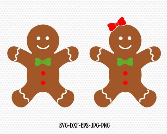 Gingerbread CookiesGingerman SvgGingerbread boy girl clip