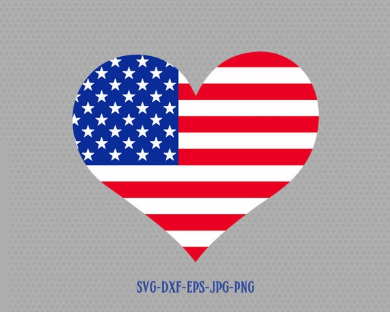 Usa Flag Heart Shape Svg Fourth Of July Svg 4th Of July Svg Etsy