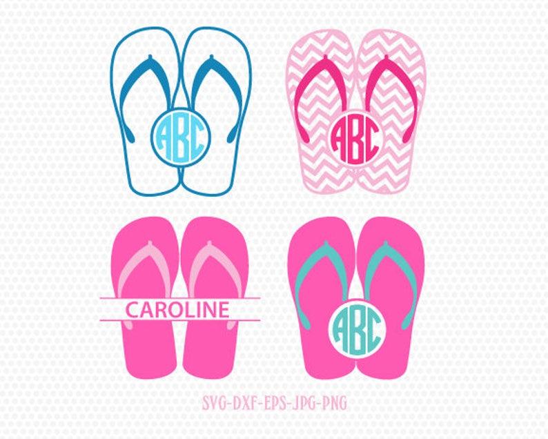 c615d4ce0 Summer Flip Flops monogram frames SVG Summer Monogram frames