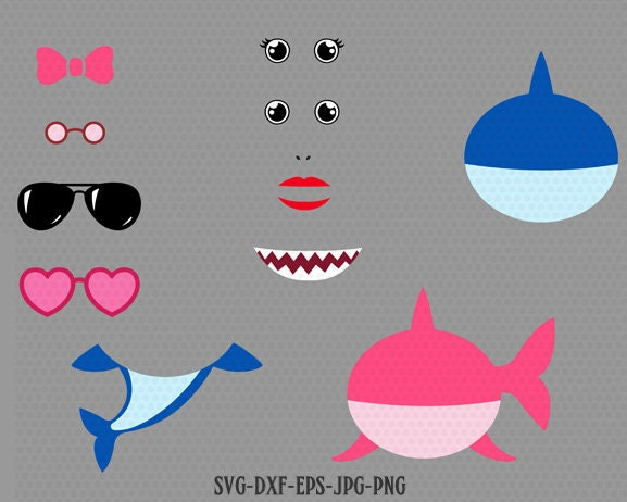 Baby Shark Svg Shark Svg Baby Shark design kit Shark Etsy