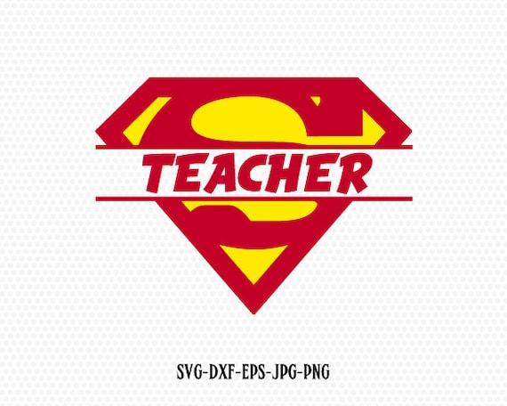 Super Teacher Super hero svgSuper teacher svgsuperhero | Etsy