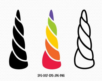 Unicorn SVG, Unicorn horn Svg, Cute Unicorn svg, Cricut, Silhouette Cut jpg svg dxf eps png