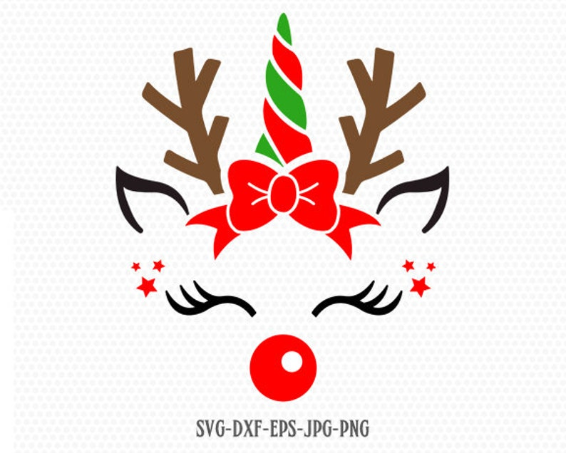 Unicorn svg, Christmas unicorn svg, Reindeer SVG, Christmas SVG Cutting  File Svg, CriCut Files svg jpg png dxf Silhouette cameo