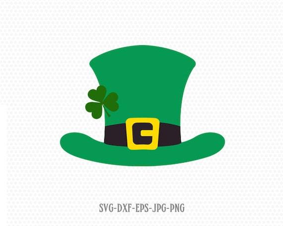 Saint Patricks Day Svg Shamrock Svg St Top Hat and Mustache svg St Patrick svg Files for Cricut Leprechaun svg Patrick/'s Day svg