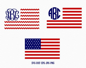 USA Flag SVG, American Flag SVG, Patriotic Monogram svg, United States svg,for CriCut Silhouette cameo Files svg jpg png dxf