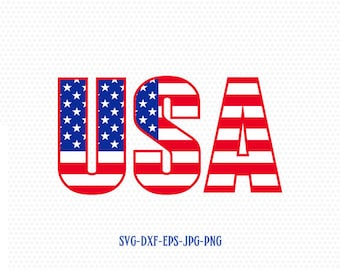 Usa, USA svg, American Flag, Flag svg, Fourth of July SVG, 4th of July Svg, Patriotic SVG, America Svg, Cricut, Silhouette Cut File svg dxf
