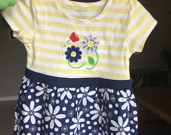 summertime flower butterfly dress daisy
