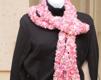 Long Mardi Gras multi color (pink, yellow, purple,peach, fuchsia) fashion Scarf