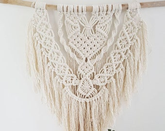Macrame Wall Hanging with a Boho Style Fringe Gift Nursery Living Room Home Decor Woven Tapestry, Woven Art Beach Style