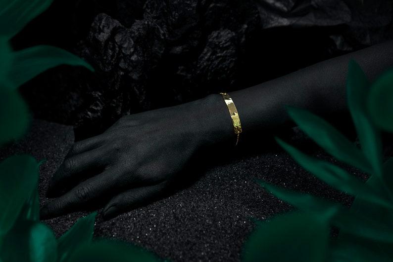NIL BLANC bracelet  24k gold coated image 0