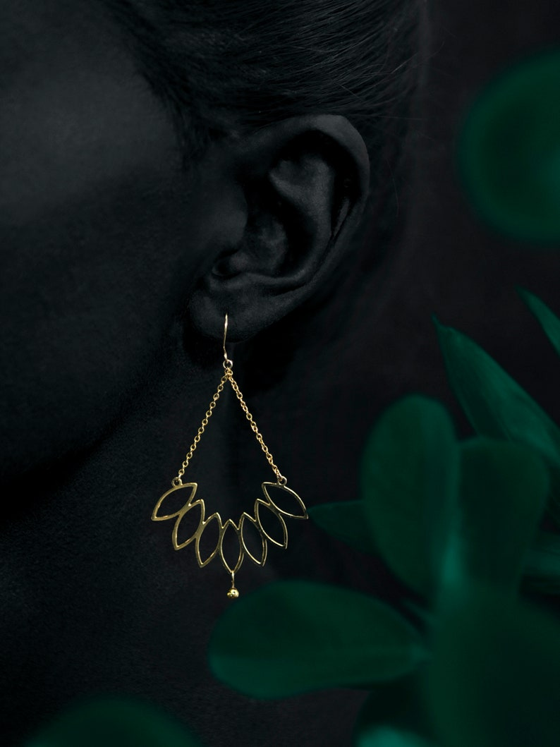 CÔME earrings  24k gold coated image 0