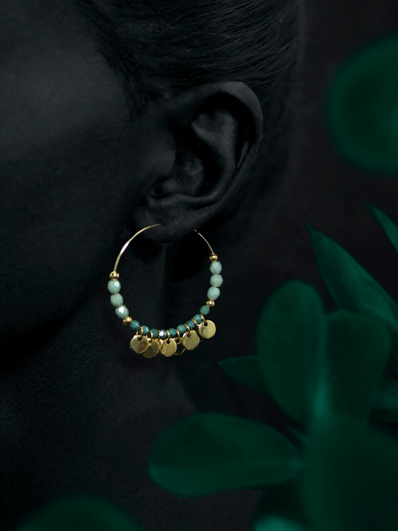 BOEMIA ear hoops  24k gold coated image 0