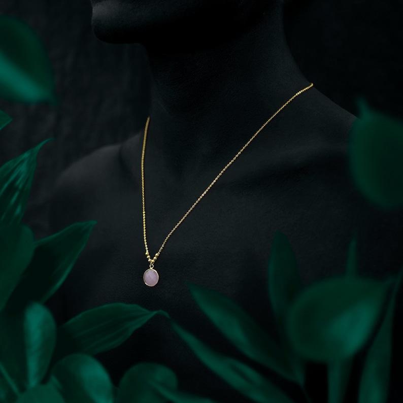 VATNA necklace  3 colors  24k gold coated image 0