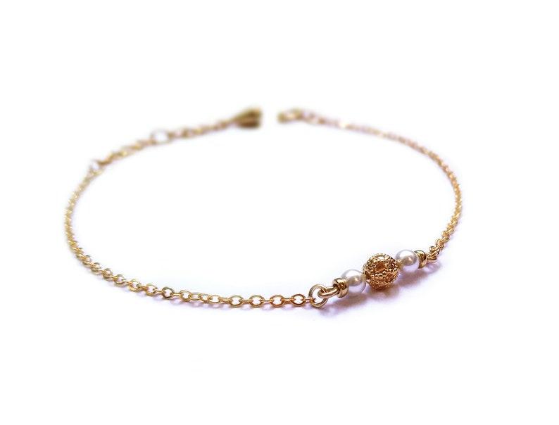 Bracelet Eté Indien  24k gold plated image 0