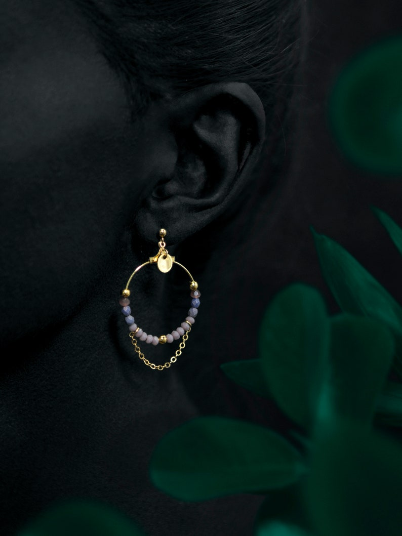 NILAK earrings  24k gold coated image 0