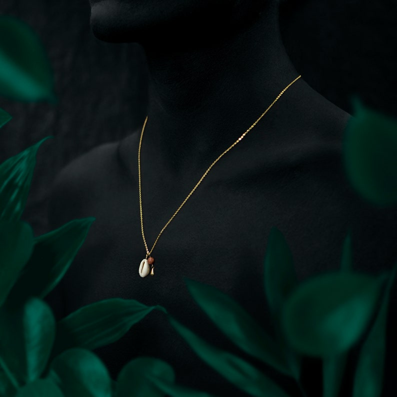 BORNEO necklace  24k gold coated image 0