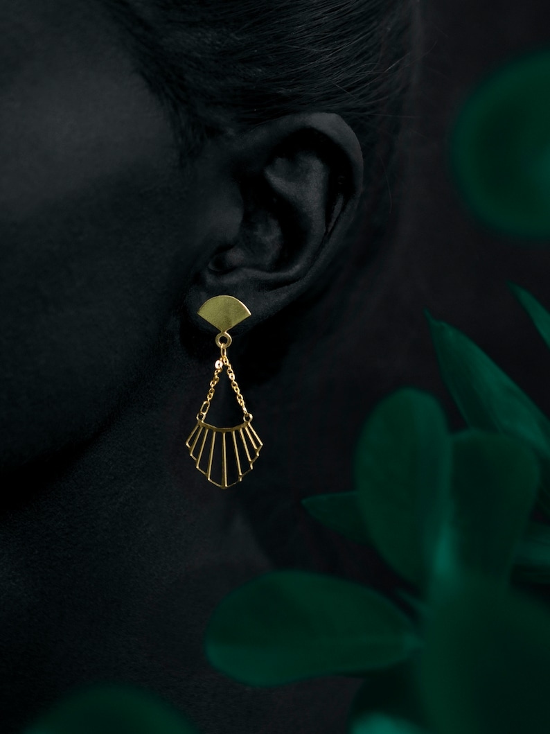 LIAO earrings  24k gold coated image 0