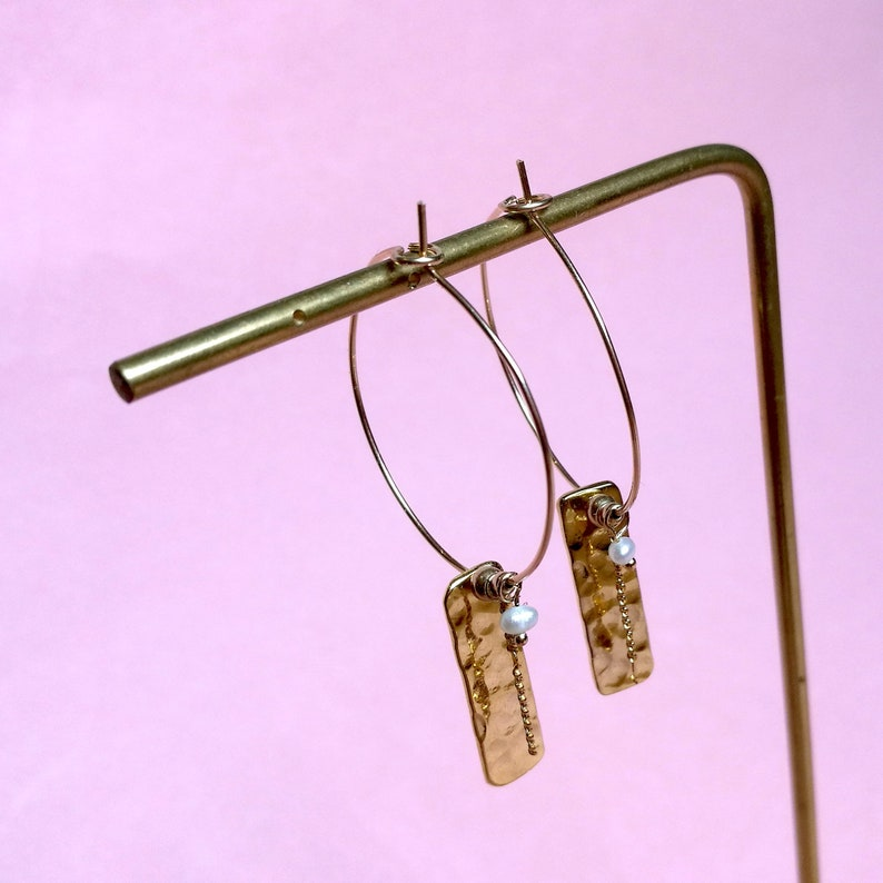 Cascade Dorées earrings hoops image 0