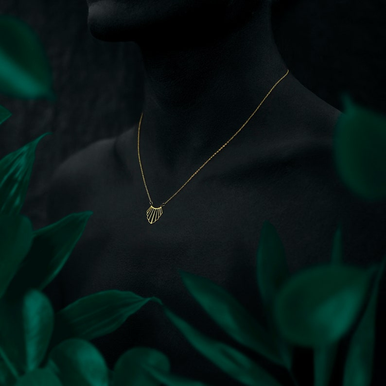 LIAO necklace  18k gold plated image 0