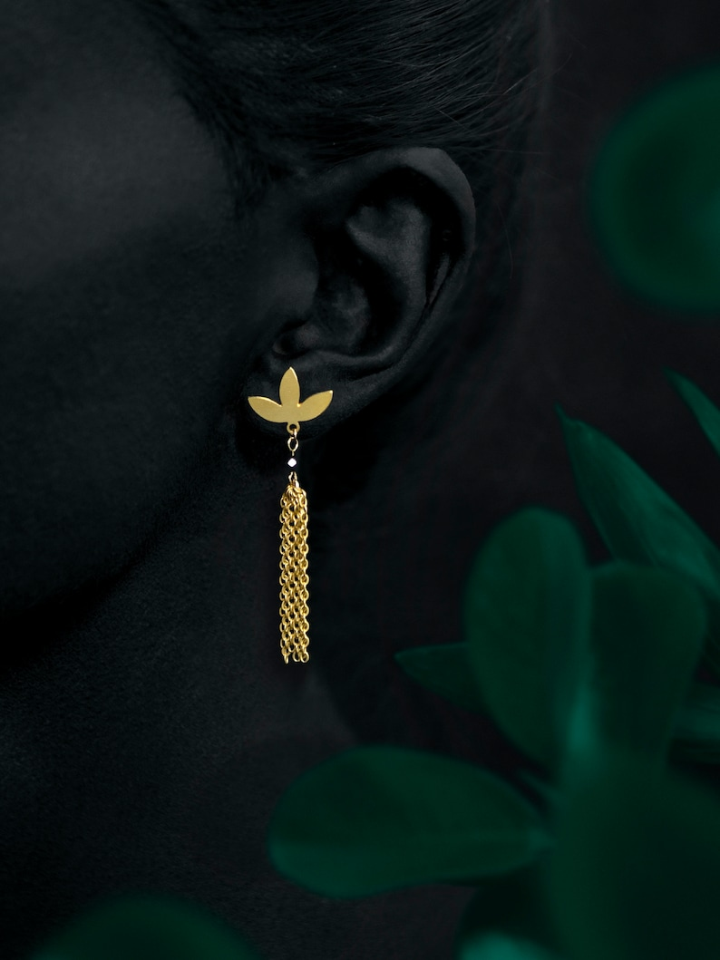 MYRTE earrings  24k gold coated image 0
