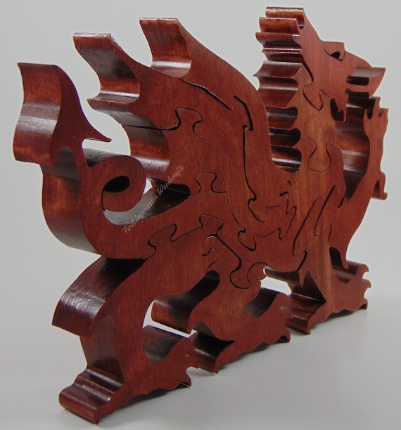 Surprising Welsh Dragon Handcrafted Wooden Puzzle Challenging Puzzle Adult Puzzle Red Dragon King Arthur Celtic Dragon Jigsaw Puzzle Wooden Toy Bralicious Painted Fabric Chair Ideas Braliciousco