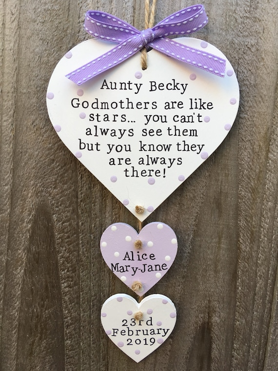GODMOTHER LUCKY SIXPENCE*WITH CHOICE OF CHARMS* Christening Baptism Godparent*