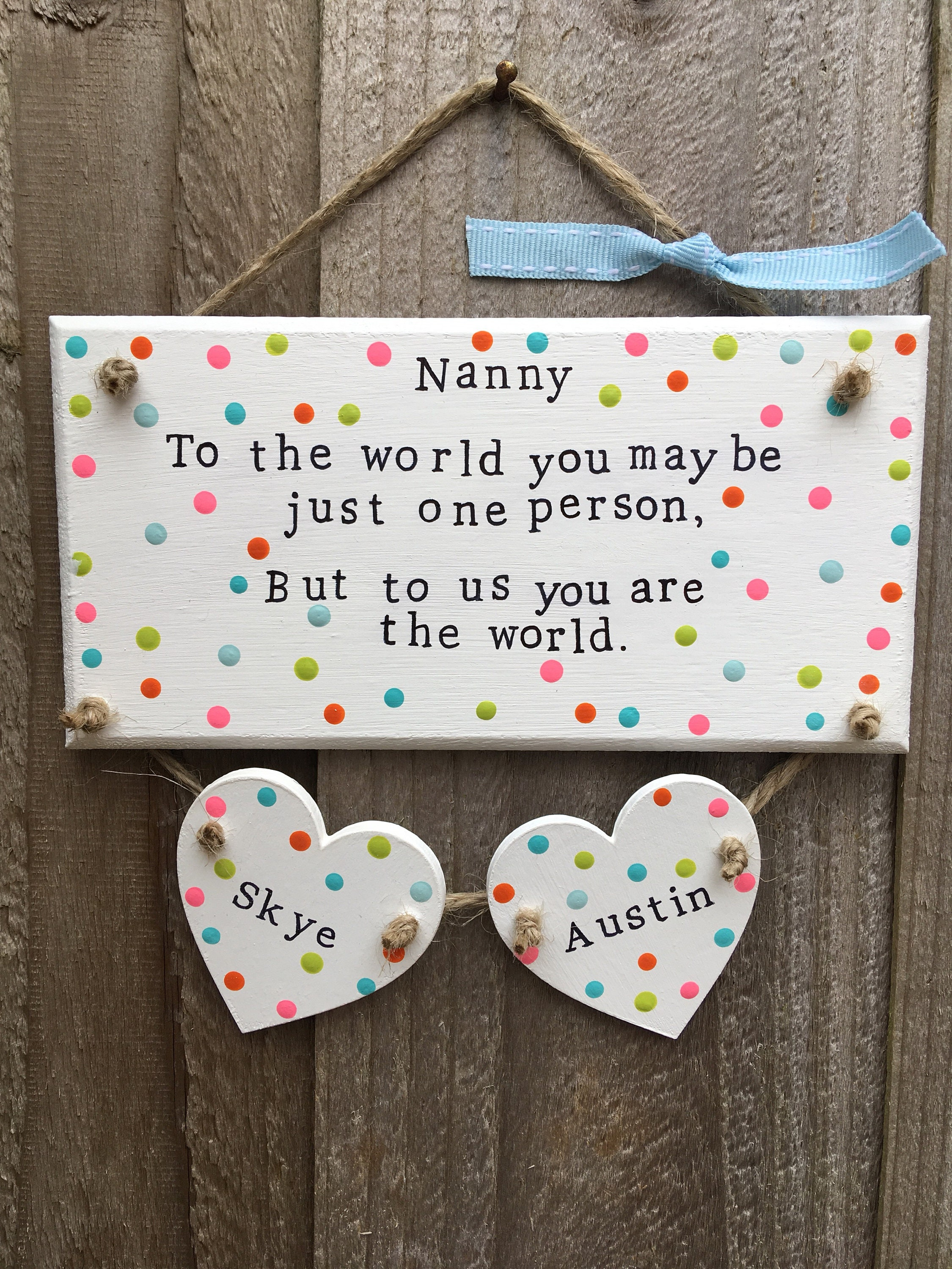 Personalised Photo Wallet Card Mothers Day Gifts for Grandma Nanny Grandad