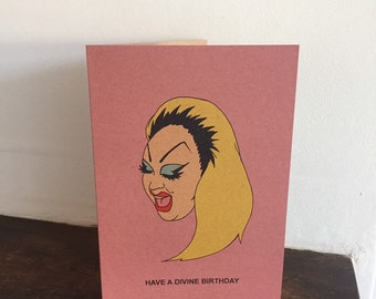 Divine Drag Queen Birthday Card