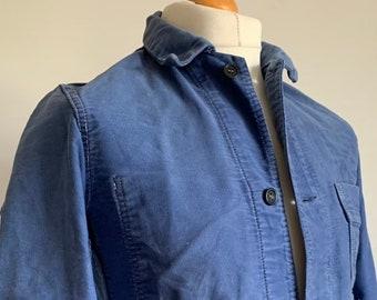 Vintage Chore Coat Size M FK31 French  1950/'s Work-wear Jacket