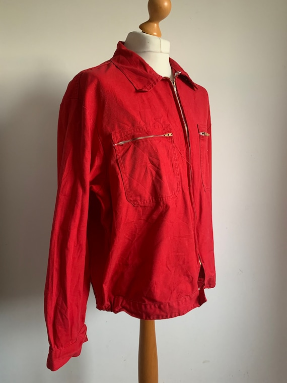 French RED Work-Wear, Size L, Vintage Work Coat, J