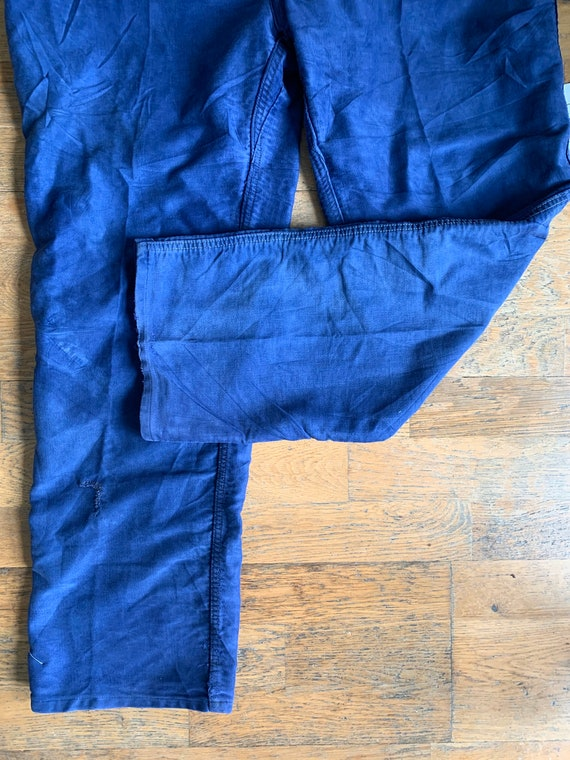 Vintage French workwear trousers , Size W36, - image 10