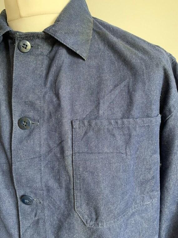French Workwear, Size L, Vintage Chore Coat, J30 - image 5