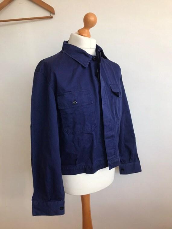 French Workwear Jacket, Size L, Vintage Chore Coat